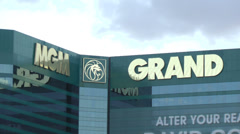 MGM Grand Hotel & Casino on CIRCA 2014 in Las Vegas Stock Footage