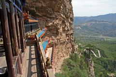 Parts of a heng shan taoist temple complex in north china, near datong, shanx Stock Photos