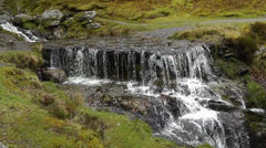 Waterfall in the Elan Valley Stock Footage