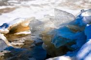 Stock Photo of ice on the river