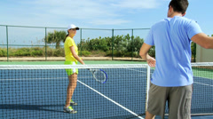 Caucasian Male Female Healthy Sporting Lifestyle Stock Footage