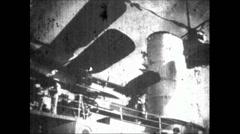 WW2 - Admiral Graf Spee - Hitler Visits Fleet 01 - stock footage