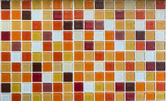 Orange and red glass tiles as background Stock Photos