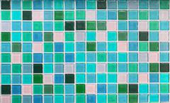 Blue glass tiles as background Stock Photos