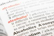 Stock Photo of Alcoholic Word Definition