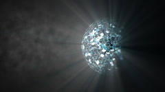 Disco glitter ball with smoke Stock Footage