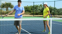 Caucasian Male Female Healthy Sporting Lifestyle - stock footage