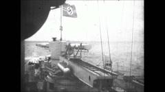 WW2 - Admiral Graf Spee - Sea Battle 02 - stock footage