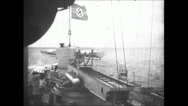 Stock Video Footage of WW2 - Admiral Graf Spee - Sea Battle 02