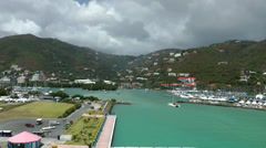 Stock Video Footage of British Virgin Islands Tortola Road Town 072 harbor and marina