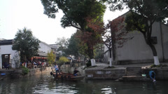 Life in Chinese ancient town: Tongli Stock Footage