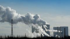 Coal power station pollution 11279 Stock Footage