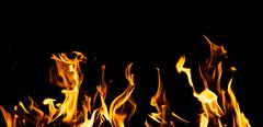 Flame fire on black background Stock Illustration
