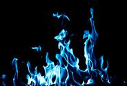 Stock Illustration of blue flame fire on black background