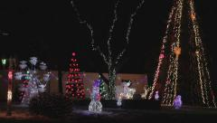 Colorful Christmas Holiday Light Show Stock Footage