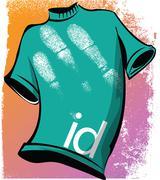 Stock Illustration of sketch of id tee. vector illustration