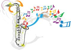 music festival. vector illustration - stock illustration