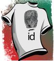 Stock Illustration of sketch of id tee. vector illustration