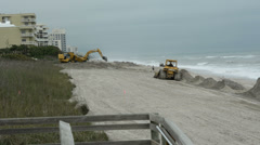 Beach Rebuilding or Renourishment Stock Footage