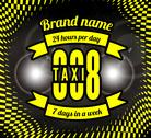Stock Illustration of business card taxi