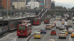 Heavy Traffic Bogota Colombia Stock Footage