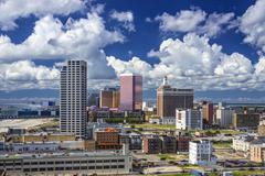 Atlantic City kaupunkimaisema Kuvituskuvat