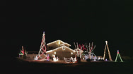 Stock Video Footage of Colorful Christmas Holiday Light Show