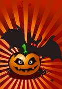 Stock Illustration of Halloween abstract background