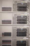 Server Hard Drives in the Data Center - stock photo