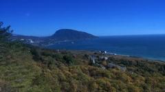 Bear mountain in Gurzuf, Crimea Stock Footage