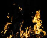 Stock Photo of flame fire on black background