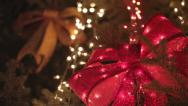 Stock Video Footage of Blinking Ribbons Colorful Christmas Holiday Light Show