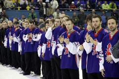 Great britain - the silver medalist of iihf world championship div i Stock Photos