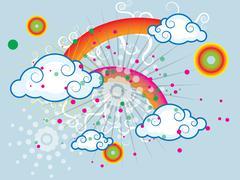 Stock Illustration of Summer iridescent sky
