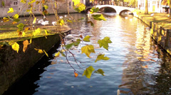 Canals of Bruges (Brugge, Belgium). Stock Footage