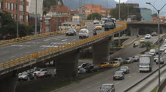 Evening Rush hour Bogota Colombia 34 Stock Footage
