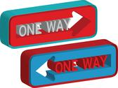 Stock Illustration of 3d one way sign
