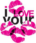I love your kisses Stock Illustration