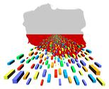 Stock Illustration of poland map flag with containers illustration