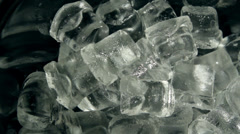 Ice scooped from ice bucket Stock Footage