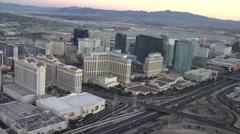 Vegas Strip aerial view on CIRCA 2014 in Las Vegas. Stock Footage