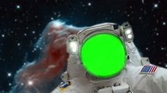 Astronaut Spacewalk, Green Screen Stock Footage