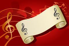 Music background, vector illustration - stock illustration