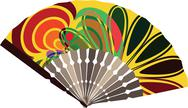 Stock Illustration of fan illustration with abstract drawing