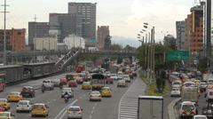 Evening Rush hour Bogota Colombia 037 Stock Footage