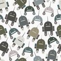 Stock Illustration of Seamless pattern of robots