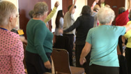 Stock Video Footage of Seniors elderly old people in fitness exercise healthy living class hd 1080