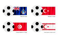 Stock Illustration of Tristan da Cunha, Turkey, Tunisia or Turkish Cypriot State Footballs