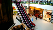 Stock Video Footage of Shopping mall - Escalator 2