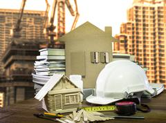 equipment and tool  home and building construction industry - stock photo